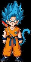 Super Saiyan Blue Kid Goku w/Broly Movie Colors