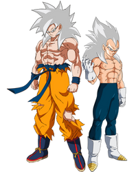 Super Saiyan ?? Goku and Vegeta