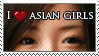 I Love Asian Girls Stamp by IceVallejo