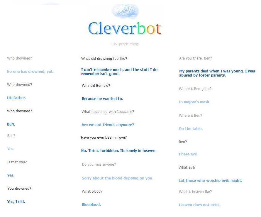 Cleverbot Ben Conversations