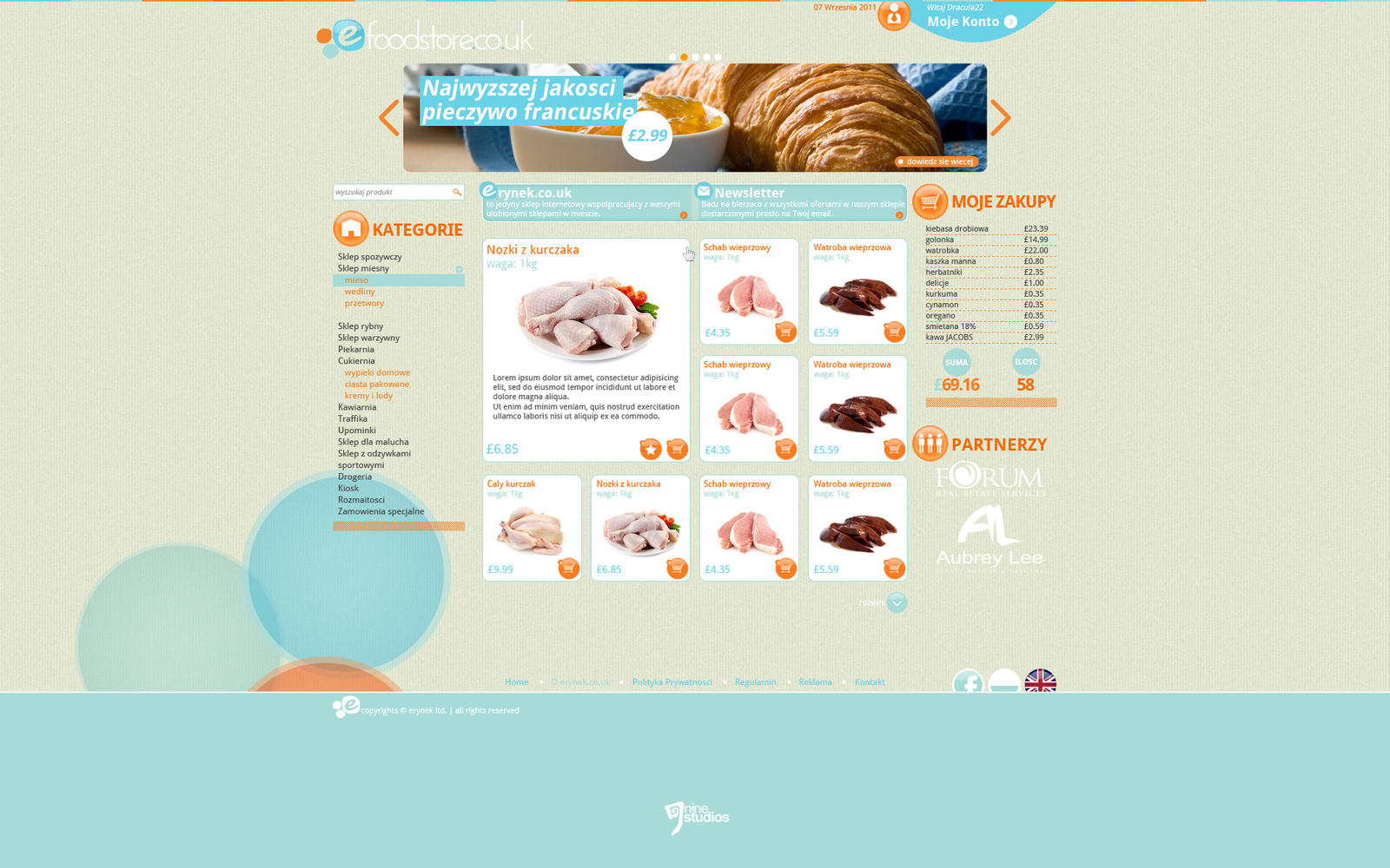 e-foodstore design by 9Studios