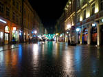 Cracow Street by Night