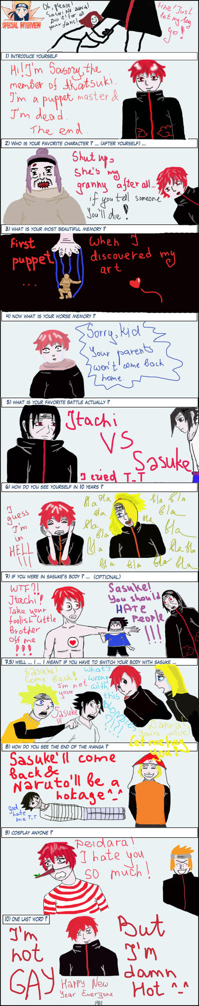 Naruto interview Sasori by MadCucumber