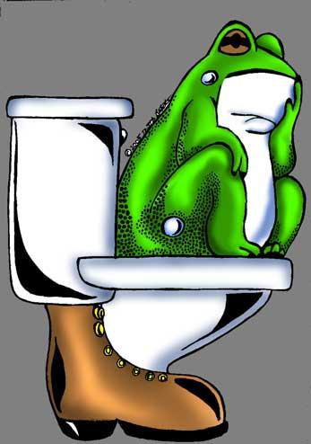Froggy on the potty by phdmatt2002
