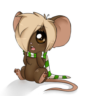 my mouse chibi by ninetail fox d494ox8 - Fresh Drawings Of Anime Hair