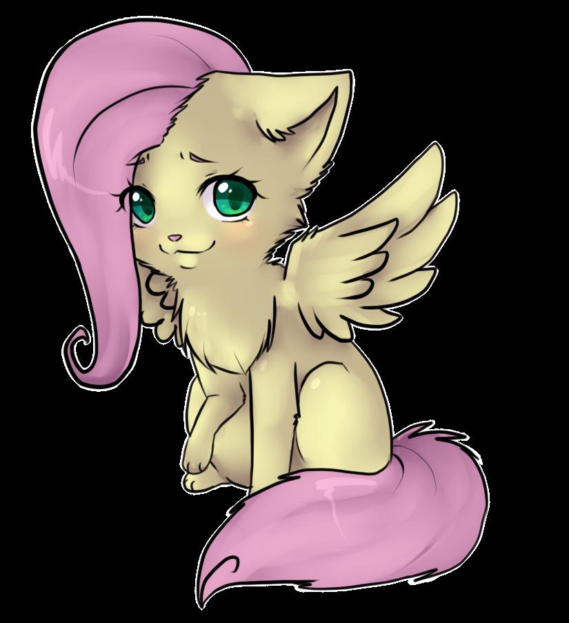 fluttershy_kitty_by_ninetail_fox-d4nnjbp