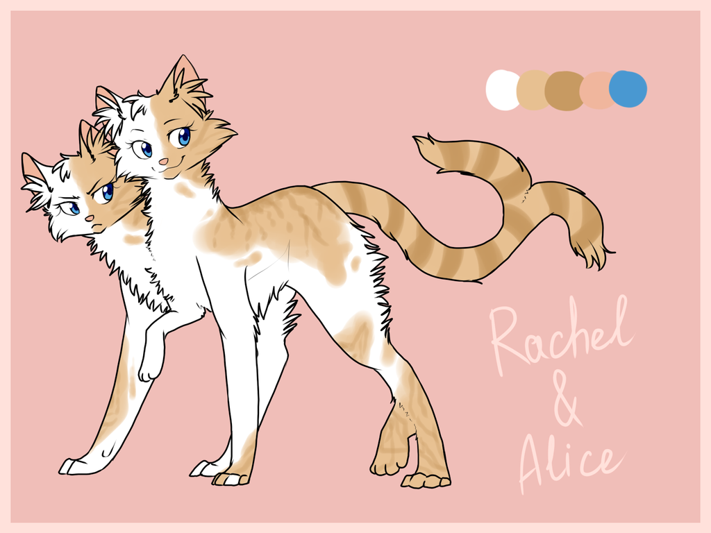 Rachel and Alice ref sheet by ninetail-fox