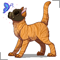 Pyrocat pixel by ninetail-fox