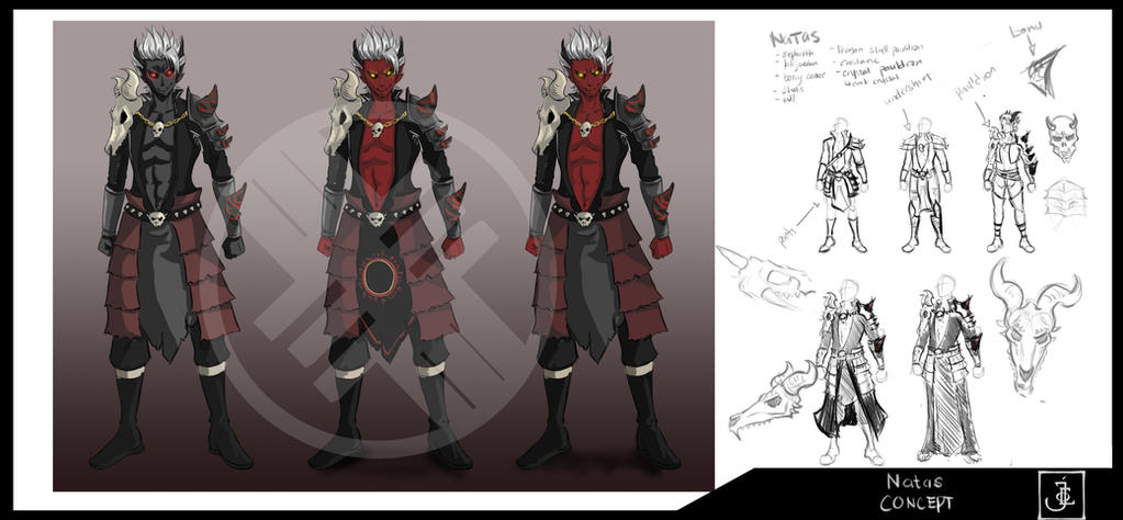 Nahtas Initial Concept by immortalblood0219