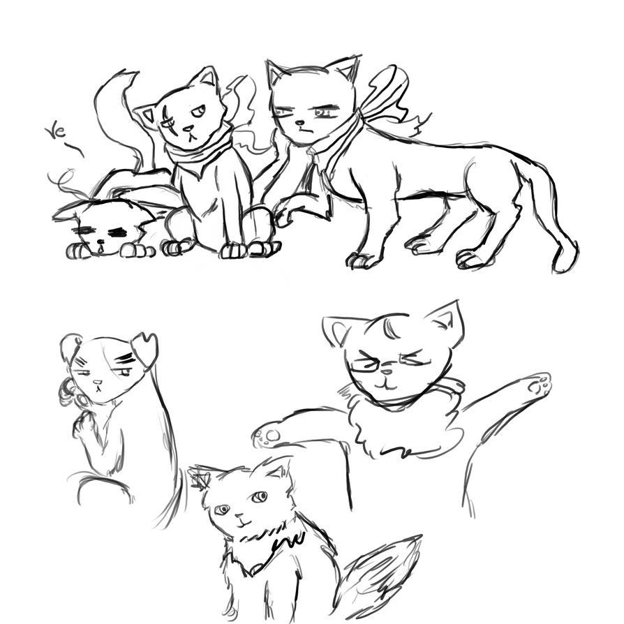 Nekotalia_sketches by Bakanyugirl