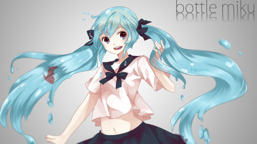 Bottle Miku by s-p-ri-ng
