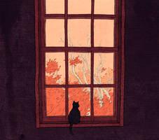 Autumn Cat by LottaLiberta