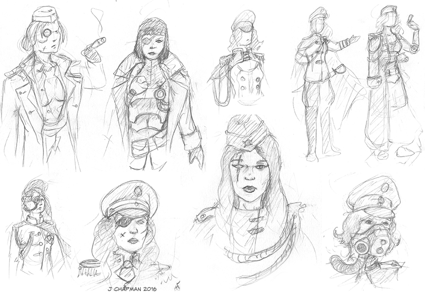 Dieselpunk sketches by gameofdolls