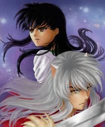 request: InuyashaxKagome by vallarii