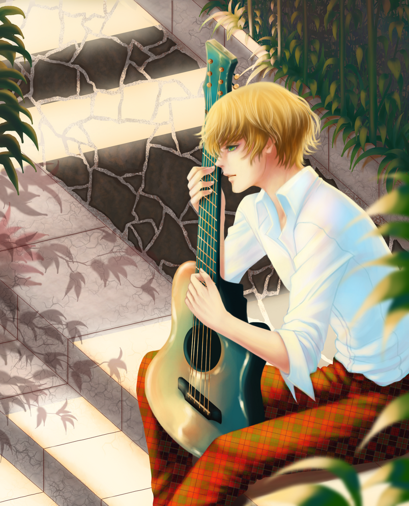 A guy and a guitar by vallarii