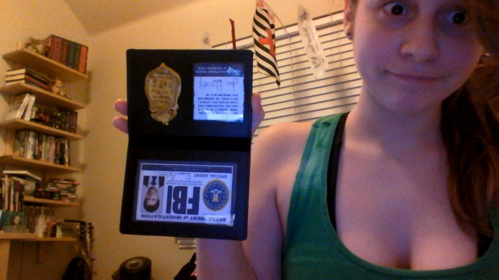 Completed castiel eddie moscone fbi badge prop by - Fbi badge wallpaper ...