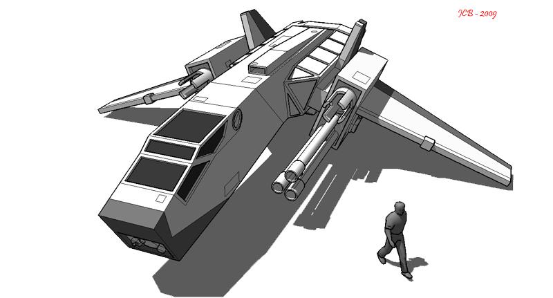 Strike Heavy Fighter A02 by karash-amerius
