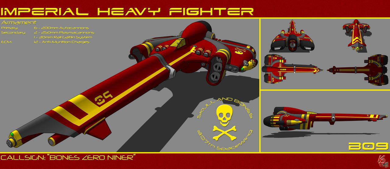 Strike Heavy Fighter B09 by karash-amerius