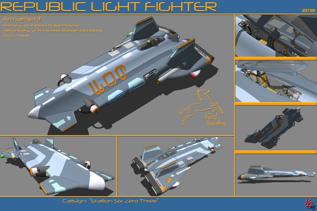 Strike Light Fighter B19 by karash-amerius