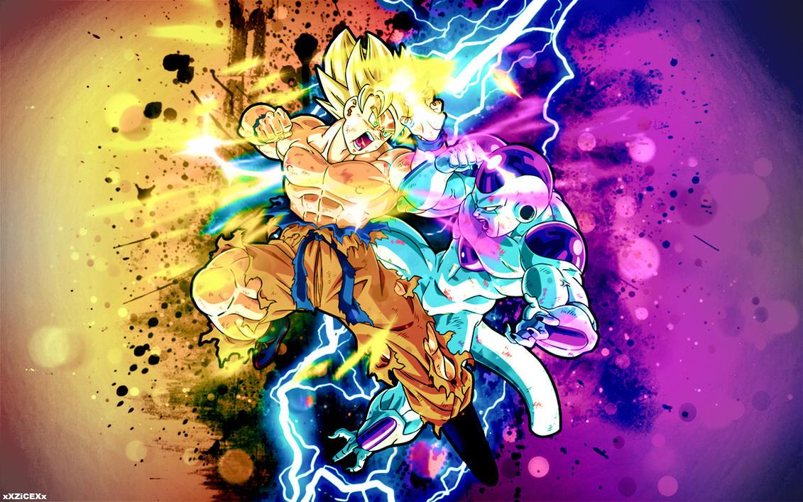 SSJ Goku Vs Frieza Wallpaper By XXZiCEXx