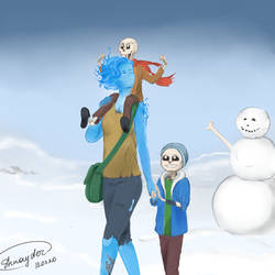 Sans, Papyrus  and fire girl