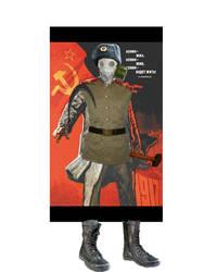 Poorly photoshopped communism man by lunageek520