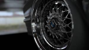 BMW e28 rim closeup