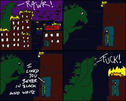 skulkey versus Godzilla