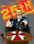 Albert Wesker RE 25 anniversary by victorious14l