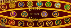 Dragon Lore- The Elements by upwarddragon