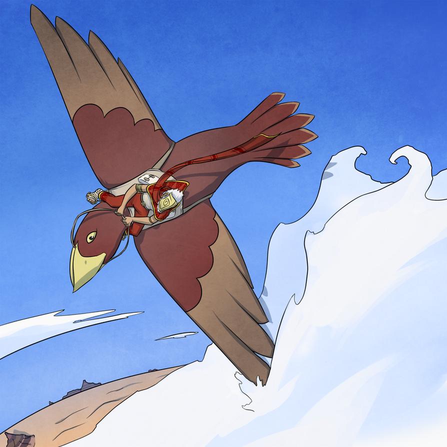 Bird Rider by FicusArt
