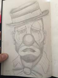 Hobo clown by Irish-Hellion