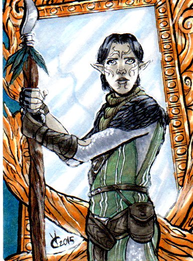 PSC Dragon Age 2 Merrill and the Eluvian by PhoenixFuryBane