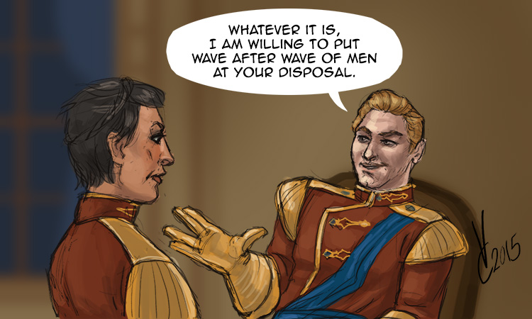 Dragon Age Inquisition Wave After Wave Of Men by PhoenixFuryBane