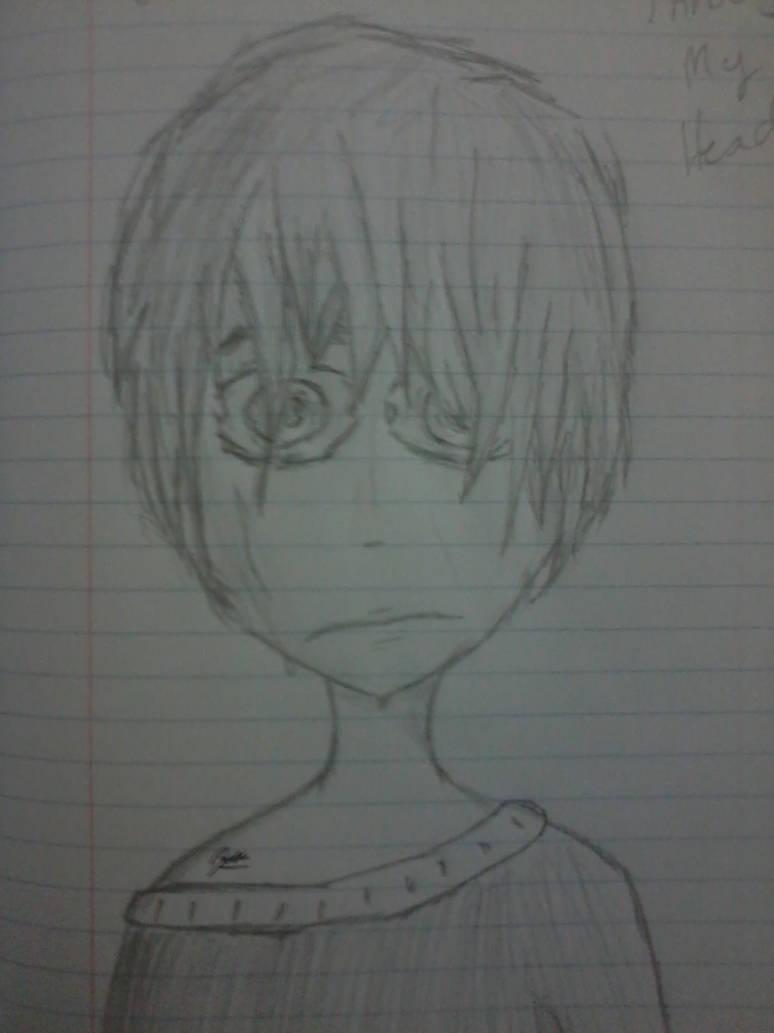 Crying boy sketch by garthnixzozo
