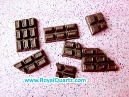 Miniature Brown Chocolate Bars by royalquartz