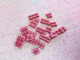 Chocolate Bars - Medium Pink by royalquartz