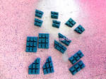 Chocolate Bars - Teal/Medium Blue by royalquartz