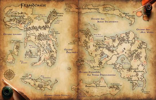 Flandonur Fantasy Map (RPG)