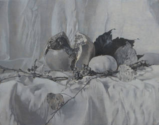 Pomegranate in Fall - Grisaille (Dead Layer)