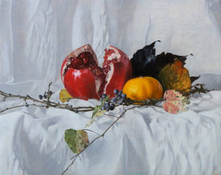 Pomegranate in Fall - Finished