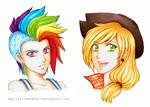 MLP Human Rainbow Dash and Applejack