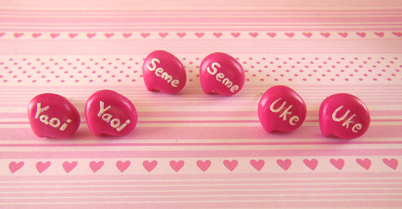 Yaoi Speech Bubble Stud Earrings by LittleBreeze