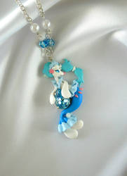 Pokemon - Primarina Necklace by LittleBreeze