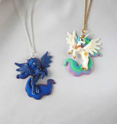 Celestia and Luna Pendants