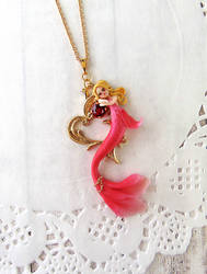 Valentines Day Mermaid Pendant by LittleBreeze