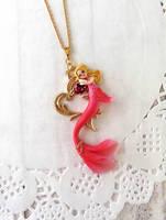 Valentines Day Mermaid Pendant by LittleBreeze