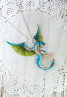 Monster Hunter - Azure Rathalos Pendant by LittleBreeze