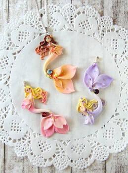 Flower Mermaid Necklaces