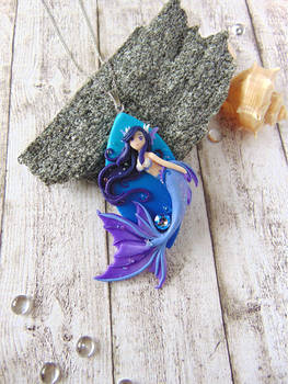 Purple Mermaid Pendant